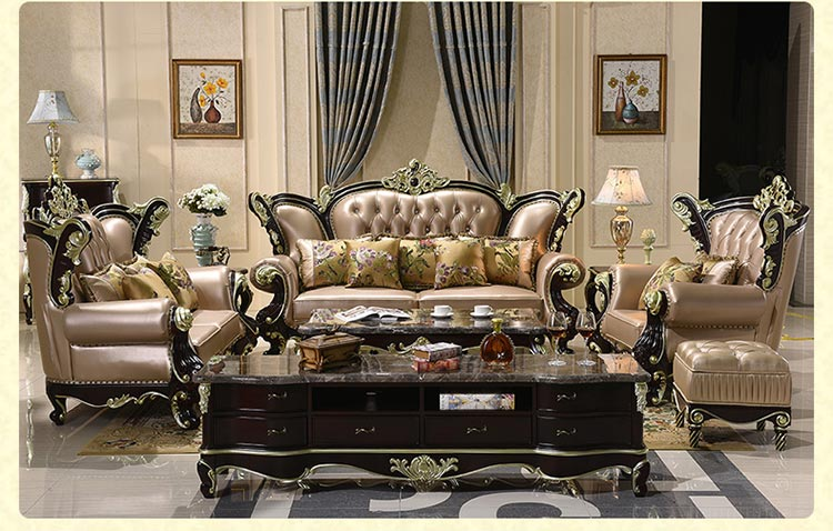 梦达酒店欧式沙发装修效果图