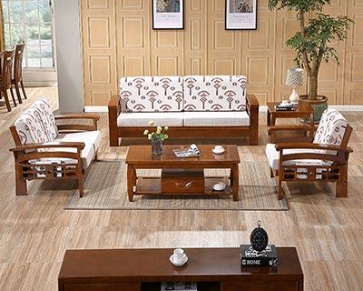 新中式实木沙发床_型号CB009