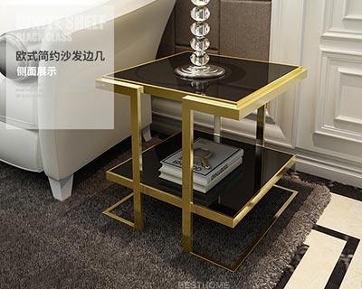 酒店不锈钢茶几_型号HT021