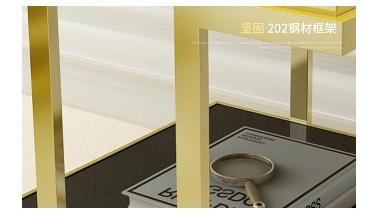 梦达酒店不锈钢茶几,202稳固钢材框架