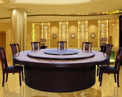 现代中式酒店餐桌_型号HT015