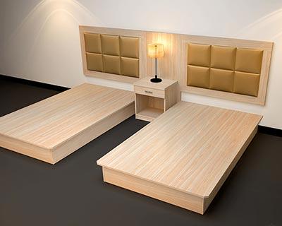 酒店板式床_型号HT016