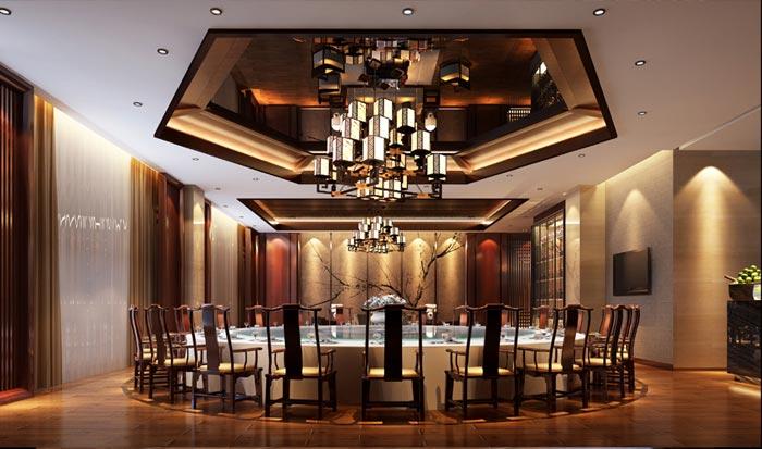 泰安飞龙酒店餐厅装修效果图
