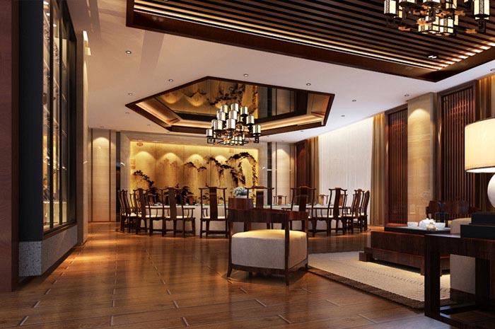 泰安飞龙酒店餐厅家具装修效果图