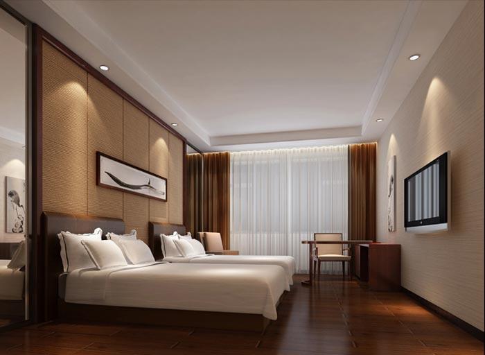 泰安飞龙酒店客房家具装修效果图