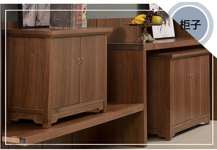 梦达酒店实木家具系列柜子图片