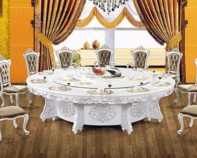 酒店全实木电动餐桌_型号HT028