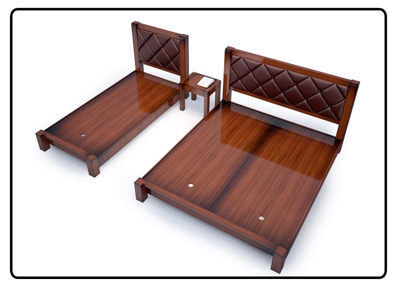 梦达高档酒店家具系列床设计图