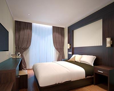 快捷酒店客房家具_型号HT036