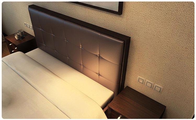 梦达酒店套房家具之软包床头图片