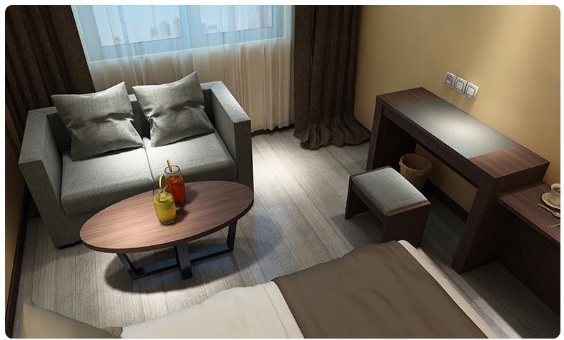 梦达酒店房间家具系列茶几沙发图片