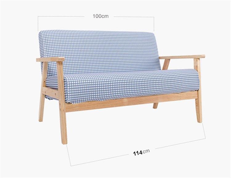 梦达宾馆酒店沙发双人款尺寸示意图