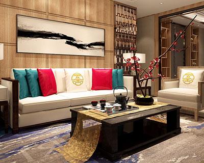 新中式会所沙发组合_型号CB019