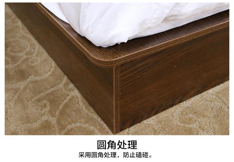 梦达宾馆床采用圆角防撞设计