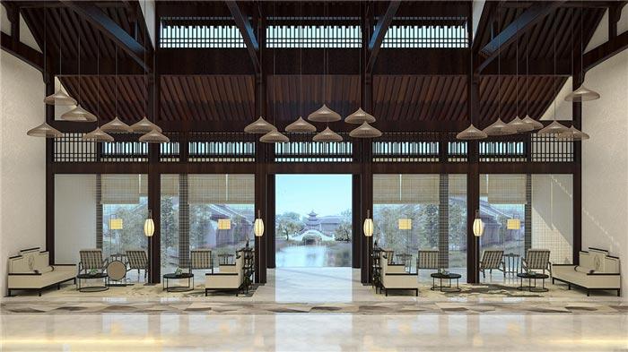 酒店大厅家具装修效果图