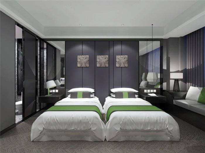 酒店客房家具装修效果图