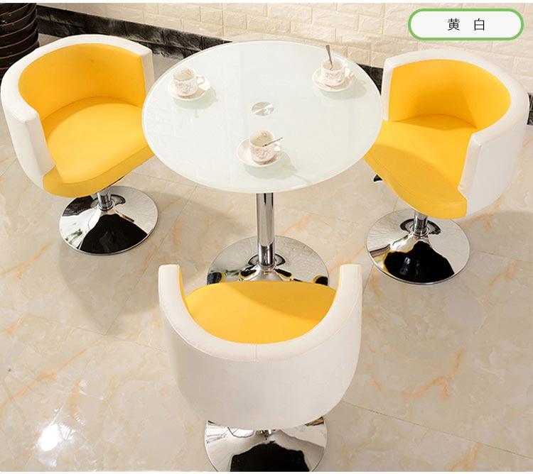 黄白色售楼中心桌椅图片