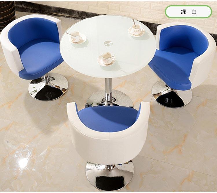 蓝白色售楼中心桌椅图片