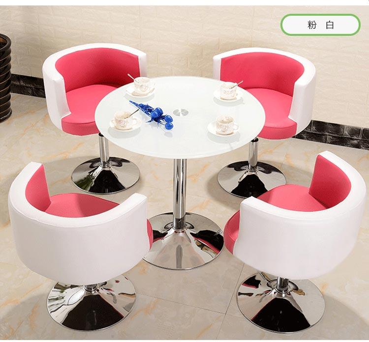 粉白色售楼中心桌椅图片