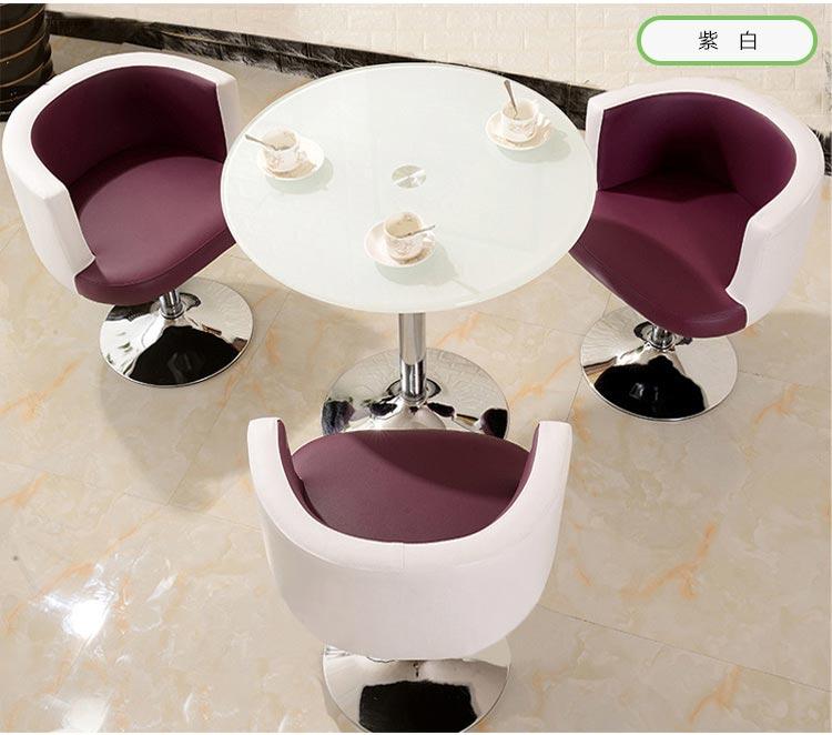 紫白色售楼中心桌椅图片