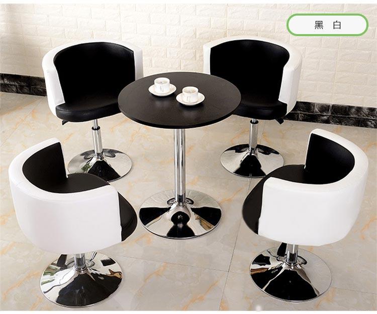 黑白色售楼中心桌椅图片