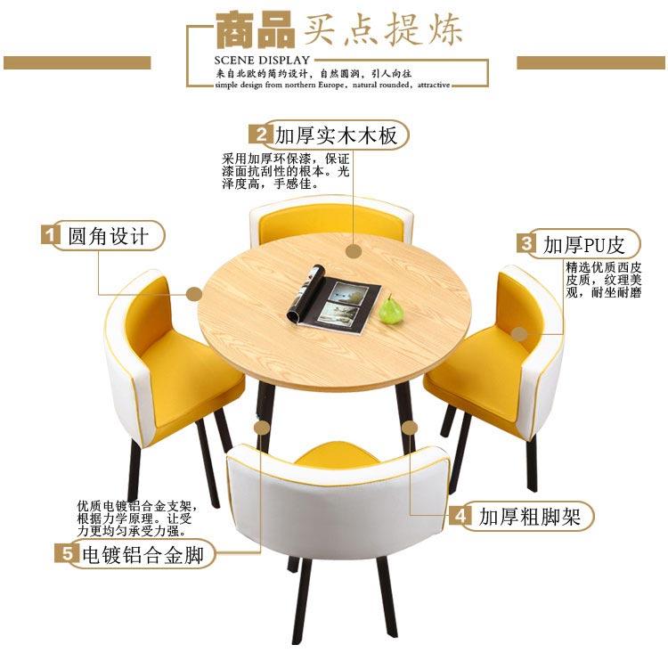 售房部洽谈桌椅组合产品优势