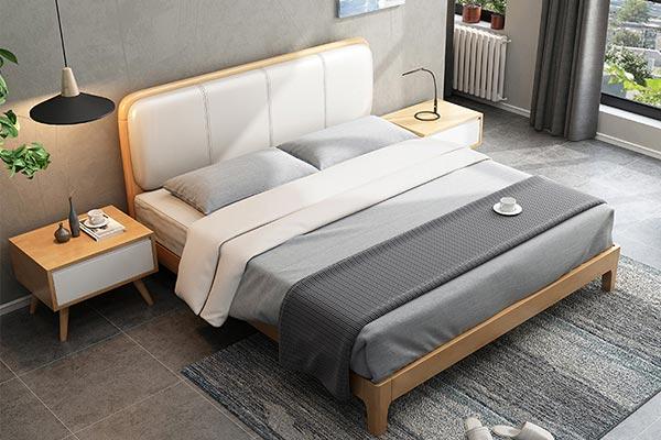橡木纯实木酒店床