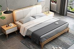 高级酒店的床