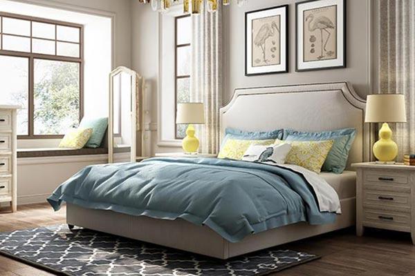 美式布艺酒店床