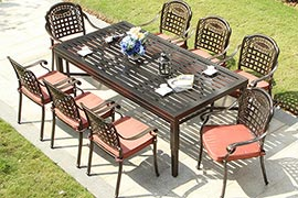 酒店用铸铝户外桌椅