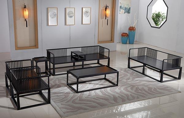 酒店大厅新中式沙发图片