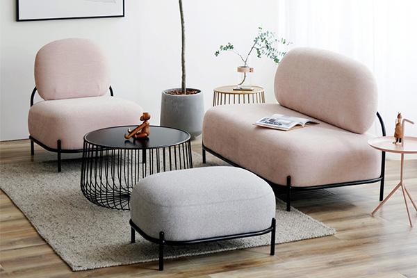 粉色鹅卵石酒店沙发