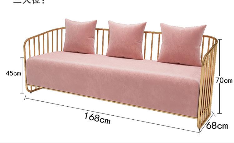 美容院专用三人沙发尺寸示意图