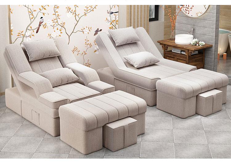 白色电动足浴沙发床图片