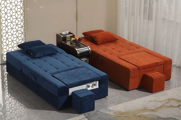 足浴店沙发床图片